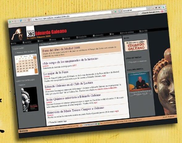 """Una web para conocer a Eduardo Galeano y su libro """"Espejos"""""""
