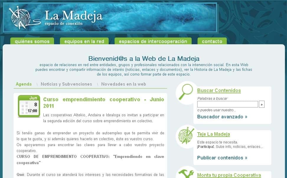 La Madeja estrena nueva web