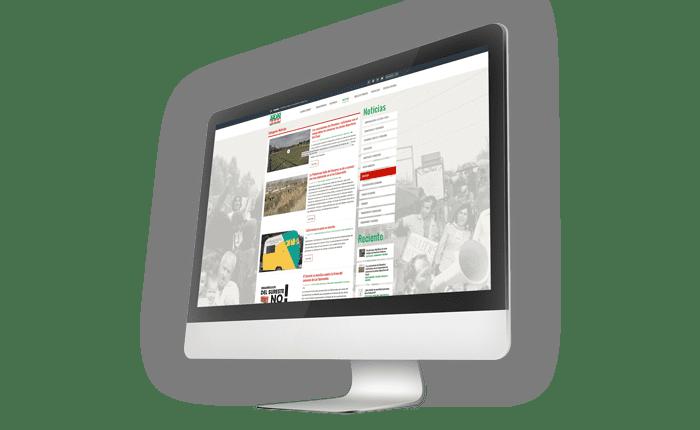 web para el movimiento vecinal