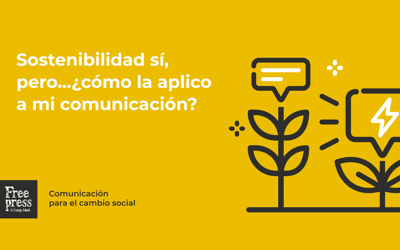 comunicar de forma sostenible